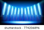 illuminated stage on the... | Shutterstock .eps vector #774206896