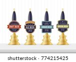 beer pump collection. beer pump ... | Shutterstock .eps vector #774215425