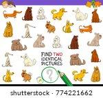cartoon illustration of finding ... | Shutterstock .eps vector #774221662
