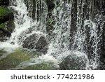 beautiful waterfall in park... | Shutterstock . vector #774221986
