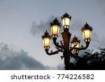 streetlamp at sunset time. | Shutterstock . vector #774226582