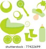 vector baby accessories | Shutterstock .eps vector #77422699