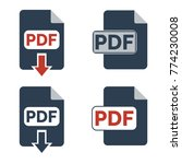 pdf icons on white background....