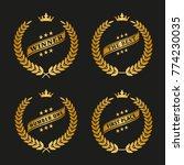 winner golden laurel wreathes... | Shutterstock .eps vector #774230035