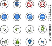 line vector icon set   right... | Shutterstock .eps vector #774231172