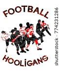 fighting young street hooligans ...   Shutterstock .eps vector #774231286