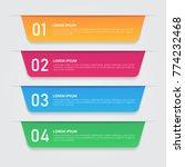 infographics template for... | Shutterstock .eps vector #774232468