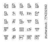 self service terminals icon set.   Shutterstock . vector #774232582
