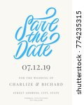 save the date. invitation... | Shutterstock .eps vector #774235315