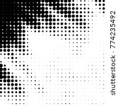 grunge halftone black and white ...   Shutterstock .eps vector #774235492