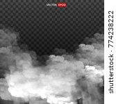 white vector cloudiness  mist  ... | Shutterstock .eps vector #774238222