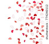 heart confetti beautifully...   Shutterstock .eps vector #774240112