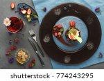 exquisite restaurant mousse...   Shutterstock . vector #774243295