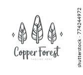 simple trees logo design....   Shutterstock .eps vector #774244972