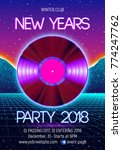 new years party invitation...   Shutterstock .eps vector #774247762