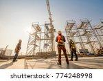 construction engineers... | Shutterstock . vector #774248998