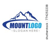 mountain and climbing logo... | Shutterstock .eps vector #774252238