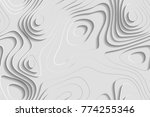seamless abstract layered white ... | Shutterstock .eps vector #774255346