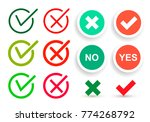 set of flat check mark icons... | Shutterstock .eps vector #774268792