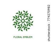 green floral emblem template... | Shutterstock .eps vector #774270982
