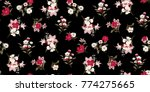 seamless floral pattern in... | Shutterstock .eps vector #774275665