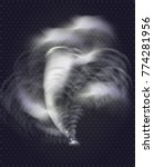 natural disaster. tornado   Shutterstock .eps vector #774281956