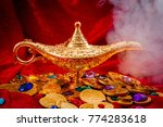 grant a wish  desiring... | Shutterstock . vector #774283618