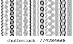big set of black and white... | Shutterstock .eps vector #774284668