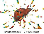 conceptual image of drug...   Shutterstock . vector #774287005