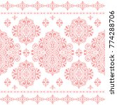 beautiful pink and white floral ...   Shutterstock .eps vector #774288706