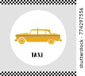 taxi icon inside circle frame....   Shutterstock .eps vector #774297556