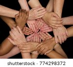 diversity of women hands and... | Shutterstock . vector #774298372