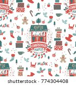 christmas market seamless... | Shutterstock .eps vector #774304408
