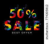 vector colored discount 50... | Shutterstock .eps vector #774305812