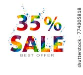 35 percent discount sale.... | Shutterstock .eps vector #774305818