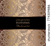 vintage baroque wedding... | Shutterstock .eps vector #774309886
