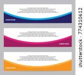 modern banner vector | Shutterstock .eps vector #774310612