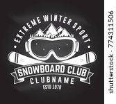 snowboard club. vector. concept ... | Shutterstock .eps vector #774311506