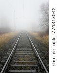 Railroad Track On A Misty Day...