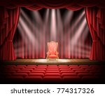 open red curtain and... | Shutterstock .eps vector #774317326