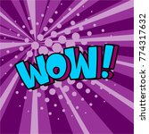 pop art comic bubbles design.... | Shutterstock .eps vector #774317632