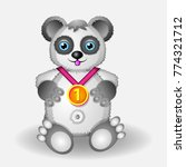 panda with medal series of... | Shutterstock .eps vector #774321712