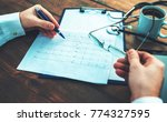 close up photo of doctor hands... | Shutterstock . vector #774327595
