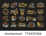collection of christmas... | Shutterstock .eps vector #774329206