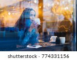 successful young girl... | Shutterstock . vector #774331156
