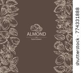 background with almond  almond... | Shutterstock .eps vector #774331888