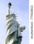 copy of statue of liberty las vegas nevada - stock photo