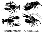 graphical set of crabs isolated ... | Shutterstock .eps vector #774338866
