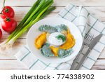 vareniki called also dumplings  ... | Shutterstock . vector #774338902