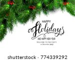 holidays greeting card for... | Shutterstock .eps vector #774339292